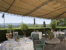 Dining room at La Bastide Saint-Antoine, Grasse, france