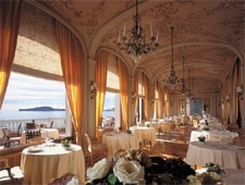 Dining room at La Reserve de Beaulieu, Beaulieu-sur-Mer, france