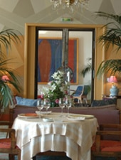 Dining room at La Passagere, Juan les Pins, france
