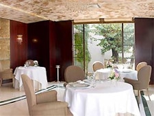 Dining room at La Terrasse Club, Juan les Pins, france