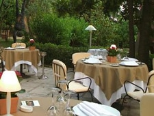 Dining room at Le Moulin de Mougins, Mougins, france
