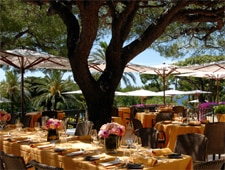 Dining room at Le Cap, Saint Jean Cap Ferrat, france
