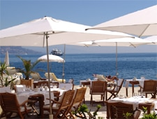 Dining room at La Voile d'Or, Saint Jean Cap Ferrat, france