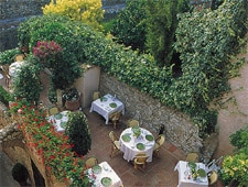 Dining room at Le Saint-Paul, Saint Paul de Vence, france