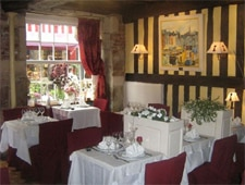 Dining room at Au P'tit Mareyeur, Honfleur, france
