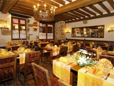 Dining room at Auberge Saint-Pierre, Le Mont-Saint-Michel, france