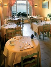 Dining room at La Ponche, Saint Tropez, france