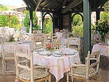 Dining room at Le Carpaccio, Saint Tropez, france