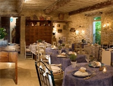 Dining room at Le Mas Tourteron, Gordes, france