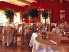 Dining room at Le Mas des Herbes Blanches, Joucas, france