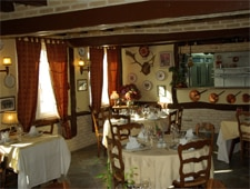 Dining room at Auberge du Clos Normand, Martin-Église, france