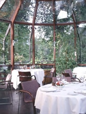 Dining room at Restaurant Buerehiesel, Strasbourg, france