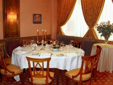 Dining room at Au Crocodile, Strasbourg, france