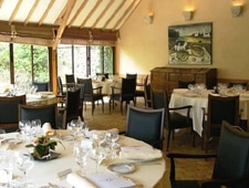 Dining room at Le Relais Bernard Loiseau, Saulieu, france