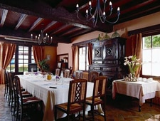Dining room at Ithurria, Aïnhoa, france