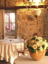 Dining room at Auberge de la Galupe, Urt, france