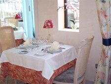 Dining room at Le Papillon, Auch, france