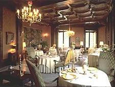 Dining room at Chateau de la Treyne, Lacave, france