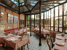 Dining room at Georges Blanc, Vonnas, france