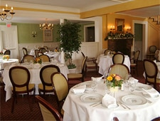 Dining room at Bernard's, Ridgefield, CT