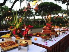 The feast of the Mauna Kea Hawaiian Luau, one of our Top 10 Luaus