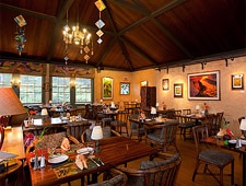 Dining Room at Kilauea Lodge & Restaurant, Volcano, HI