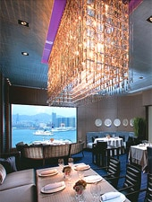 Dining room at Pierre, Central, hong-kong