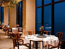 Dining room at One Harbour Road, Wanchai, hong-kong