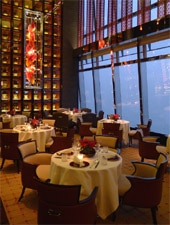 Dining room at Tin Lung Heen, Kowloon, hong-kong