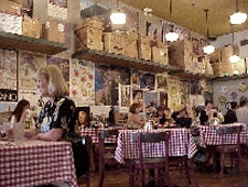 Dining room at D'Amico's Italian Market Cafe, Houston, TX