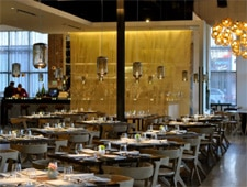 Dining room at Triniti Restaurant + Bar, Houston, TX