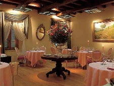 Dining room at Enoteca Pinchiorri, Florence, italy