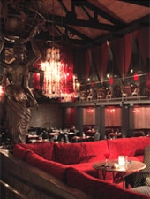 Dining room at La Boheme, West Hollywood, CA