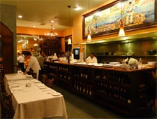 Dining room at Da Pasquale, Beverly Hills, CA
