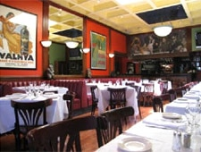 Dining room at Le Petit Bistro, West Hollywood, CA