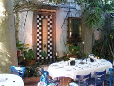 Dining room at The Little Door, Los Angeles, CA