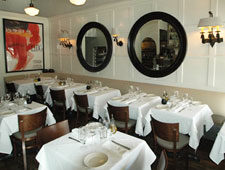 Dining room at Porta Via, Beverly Hills, CA