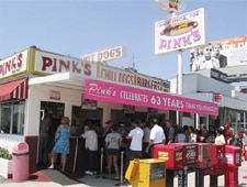 Dining Room at Pink's Famous Chili Dogs, Los Angeles, CA