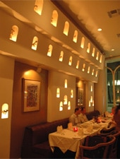 Dining room at Bombay Palace, Beverly Hills, CA