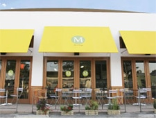 Dining room at M Cafe, West Hollywood, CA