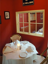Dining room at Bistro de la Gare, South Pasadena, CA