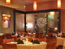 Dining room at Chakra Restaurant & Lounge, Beverly Hills, CA