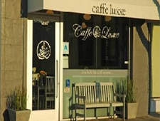 Dining room at Caffe Luxxe, Santa Monica, CA