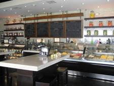 Dining room at Caffe Primo, West Hollywood, CA