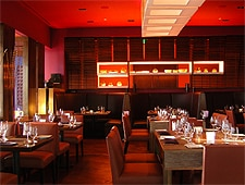 Dining room at THIS RESTAURANT IS CLOSED Tanzore Restaurant & Lounge, Beverly Hills, CA