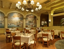 Dining room at Smeraldi's Restaurant, Los Angeles, CA