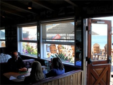 Dining room at Paradise Cove Beach Cafe, Malibu, CA