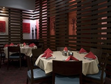 Dining room at Baran Restaurant, Los Angeles, CA