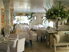 Dining room at Villa Blanca, Beverly Hills, CA