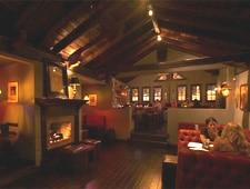 Dining room at The Den of Hollywood, West Hollywood, CA